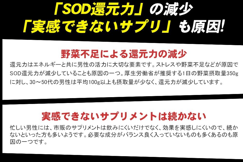 SOD還元力の減少、実感できないサプリも原因!